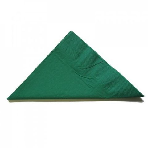 Pine Green 2 Ply Coloured 1/4 Fold Luncheon Serviettes 320mm x 320mm - Box of 2,000