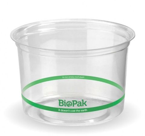 BioPak 500ml Clear Bio Bowl - Box of 500
