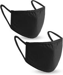 Health Guard Adult Reusable Mask 95% Cotton 5% Spandex 1 Size Fits All Twin Pack