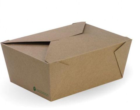 Biopak Extra Bioboard Lunch Box 216mm(L) x 157mm(W) x 90mm(H) - Box of 200