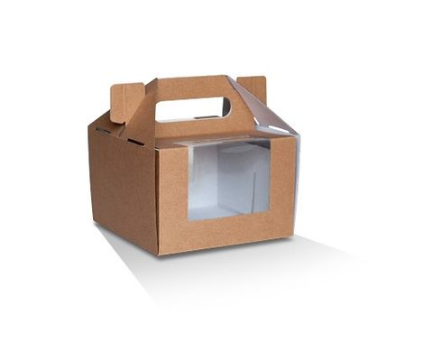 "Pack and Carry Boxes 6"" x 4"" / 152.4mm(L) x 152.4mm(W) x 101.6mm(H) - Box of 100"