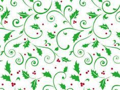 Christmas / Xmas Cello Rolls Holly Design 25 meters x 750mm