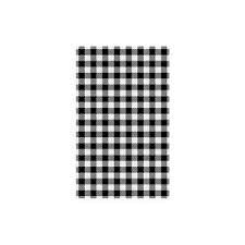 Gingham Greaseproof Paper 190mm x 310mm Black / White Check - Packet of 200 Sheets