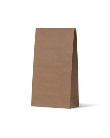 SOS 2 Flat Bottom Medium Bag Brown 260mm(H) x 130mm(W) + 80mm Gusset - Carton 500