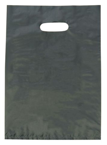 Large Black LDPE Gloss Boutique Bags Plastic 530mm(L) x 415mm(W) - Box of 500