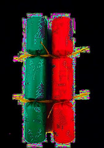 "Xmas Bon Bon 10"" Paper Reindeer Red and Green Design - Box 50"