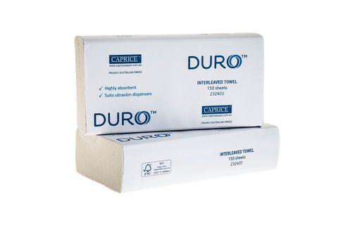 Premium Duro Interleaved Paper Hand Towel White 230mm x 240mm - Box of 16