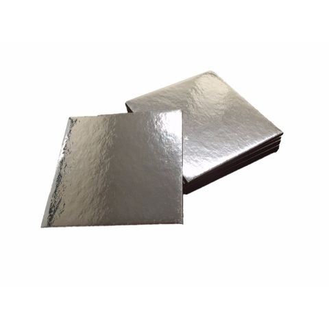 No. 8 Silver Cake Base Square 200mm Diameter - Packet of 50