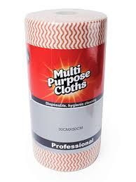 Chocolate Brown Premium Heavy Duty Cleaning Wipes 80 Sheets Per Roll 300mm x 500mm - Each