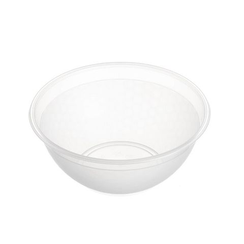 Round Clear Premium Plastic Noodle Bowl 900ml with 180mm Diameter - Box of 400