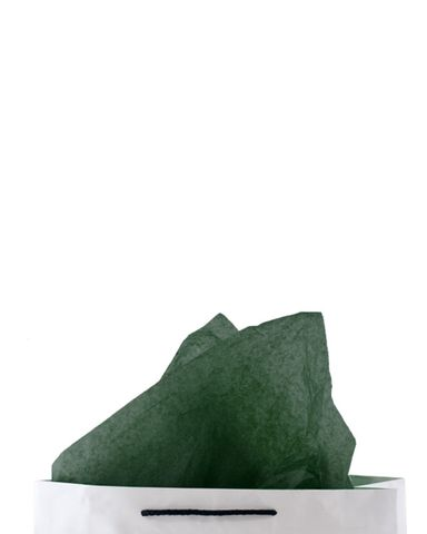 Premium 17gsm Dark Green Coloured Tissue Paper 500mm(W) x 750mm(L) - Packet of 480