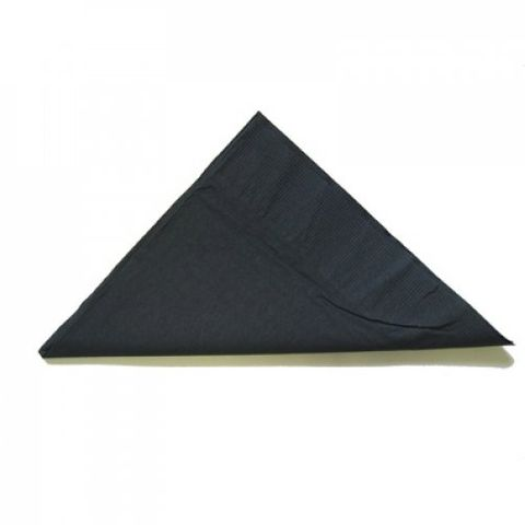 Black 2 Ply Dinner Serviettes 1/4 Fold 400mm x 400mm - Box of 1,000