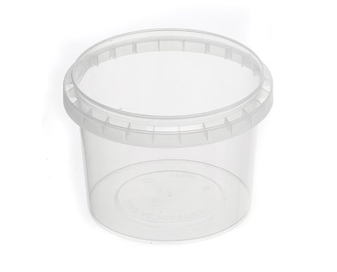 Tamper Evident Round Container Bases 565ml / 118mm Diameter - Box of 450