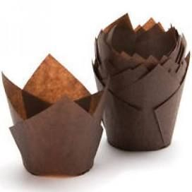 Brown Paper Muffin Tulip Liners Moulds 50mm Base - PACKET=200 / BOX=5,000