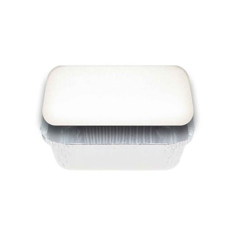 Medium Rectangular White Lids for 7419 Foil Container - PACKET=125 / BOX=500