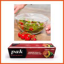 Food Cling Wrap Roll (PAK Red Black Box) Small 33cm(W) x 600m(L) In Dispenser Box - Each
