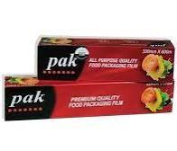 Food Cling Wrap Roll (PAK Red Black Box) Large 45cm(W) x 600m(L) In Dispenser Box - Each