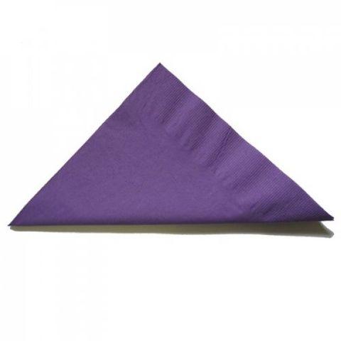 Purple 2 Ply Dinner Serviettes 1/4 Fold 400mm x 400mm - Box of 1,000