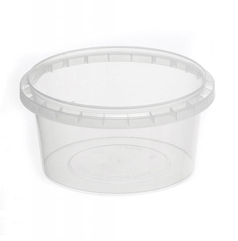 Tamper Evident Round Container Bases 460ml / 118mm Diameter - Box of 450
