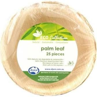 """Palm Leaf Round Bowl 6.5"""" - Pack of 10"""