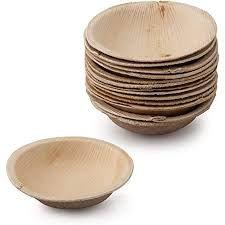 "Palm Leaf Round Dip Bowl 2.5"" - Pack of 8"