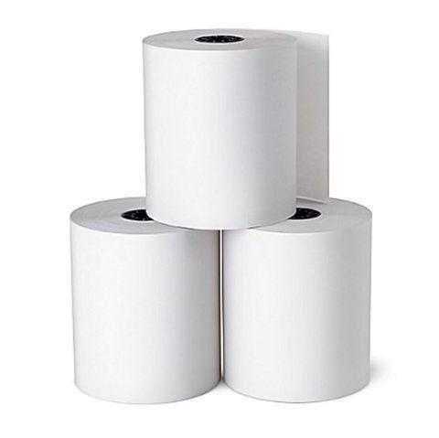 Cash Register Roll White Bond Plain Paper 76mm x 76mm 3 PLY - Box of 50