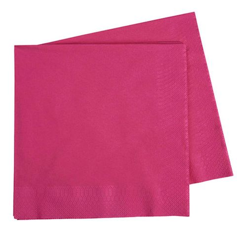 Pink 2 Ply Dinner Serviettes 1/4 Fold 400mm x 400mm - Box of 1,000