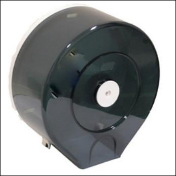 Dark Blue Transparent Jumbo Toilet Roll Dispenser Lockable ABS Plastic - Each