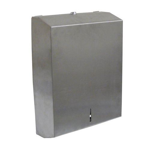 Stainless Steel Multifold Towel Dispenser Matte Finish for Slimline Interleaf Towel Lockable - Each