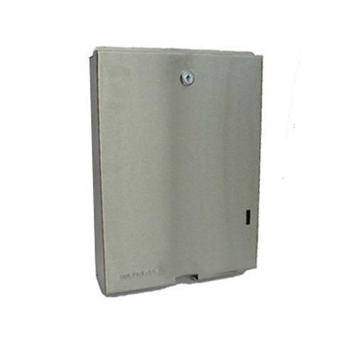 Stainless Stee Interleaf Paper Towel Dispenser Matte Finish for Ultraslim Interleaf Towel Lockable - Each