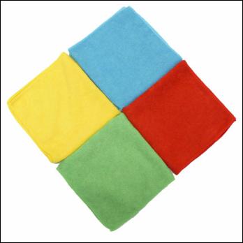 Microfibre Cloth 40cm x 40cm Premium Green - Pack of 10