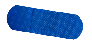 Blue Detectable Plastic Strips 25mm x 72mm - 100 Strips