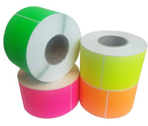 Paper Backed Labels 102mm X 150mm Fluoro Orange - Roll of 1,000