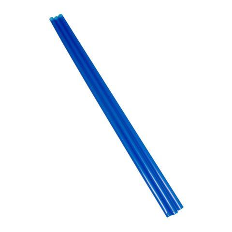 Long Bottle Drink Straw Blue Oxo-Biodegradable 240mm Long - Box of 5,000