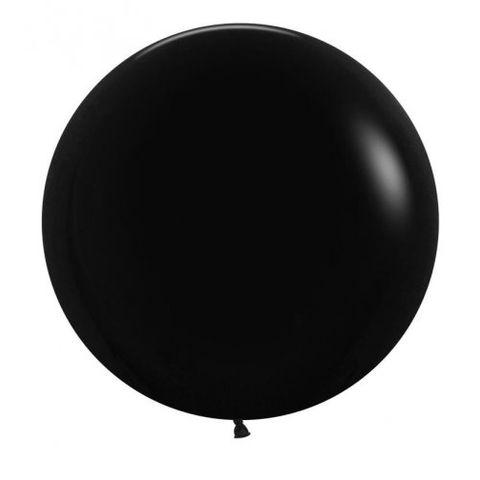 Decrotex 60cm Fashion Black Balloons - Retail Pack 3