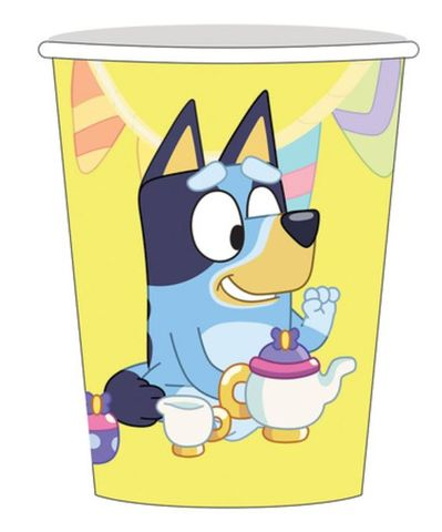 Bluey Party Paper Cups 9oz/266ml - Pack
