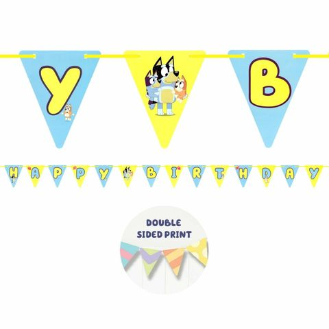 Bluey Hanging Bunting Party Decoration - Pack