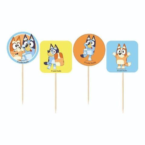 Bluey Cupcake Picks - Packet