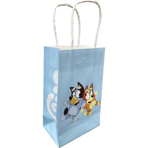 Bluey Party Paper Kraft Bags - Pack