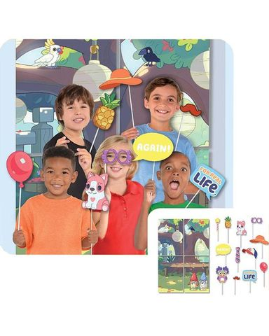 Bluey Scene Setter with Photo Props for Party - Pack