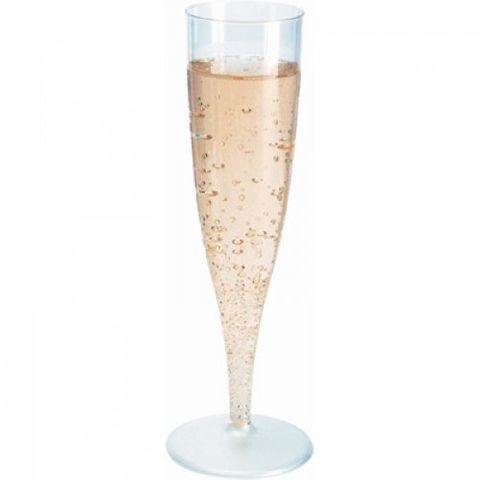 Duni Deluxe Plastic Champagne Flute 1 Piece 135ml - PACK=10 / BOX=100