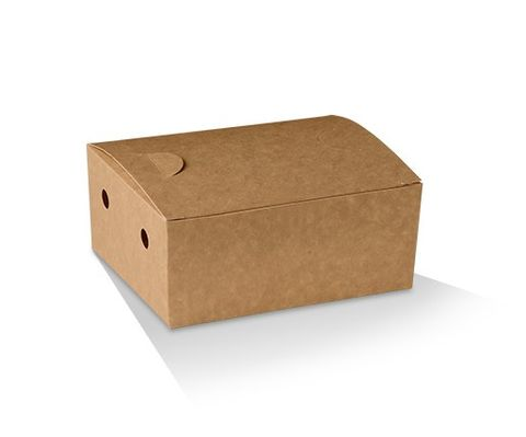 Eco Series Brown Junior Snack Boxes Cardboard 130mm(L) x 100mm(W) x 57mm(H) - Box of 250