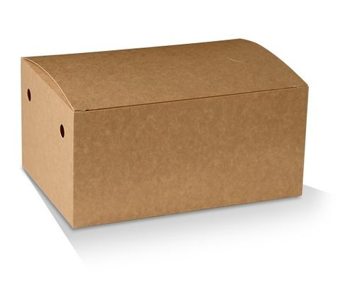 Eco Series Brown Family Snack Boxes Cardboard 210mm(L) x 140mm(W) x 102mm(H) - Box of 200