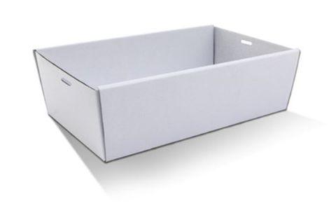 Medium White Cardboard Catering Box Bases 360mm(L) x 255mm(W) x 80mm(H) - PACK=10 / BOX=50