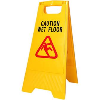 A Frame Sign - Yellow Caution Wet Floor - Each