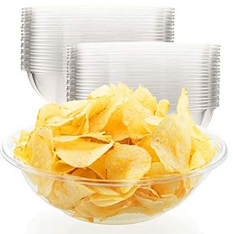 """Clear Plastic Serving Bowl 6"""" / 150mm Wide - Each"""