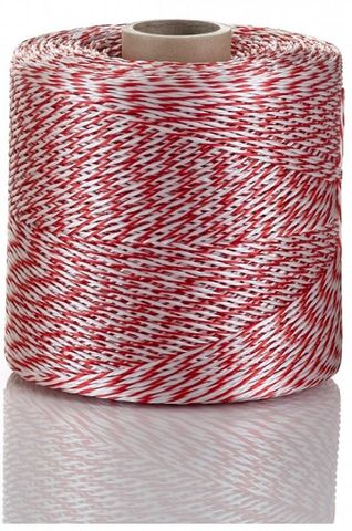 Nylon Butchers Twine Red and White 720 Metres - Roll