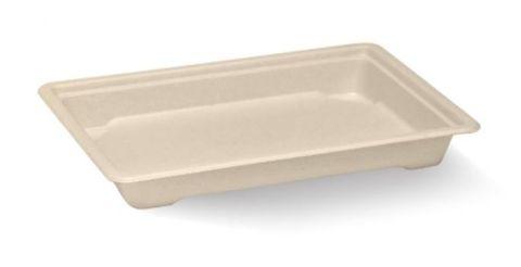 Medium BioCane Sushi Tray (Requires Medium Sushi Tray PLA Lids) 188mmL x 134mmW x 24mmH  - Box of 600