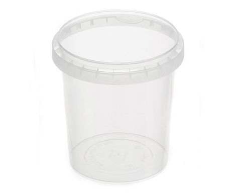 Tamper Evident Round Container Bases 870ml / 118mm Diameter - Box of 450