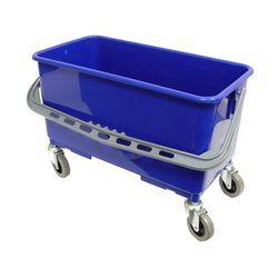 Heavy Duty 22L Blue Window Wheel Bucket with Heavy Duty Castors and Handle - Each